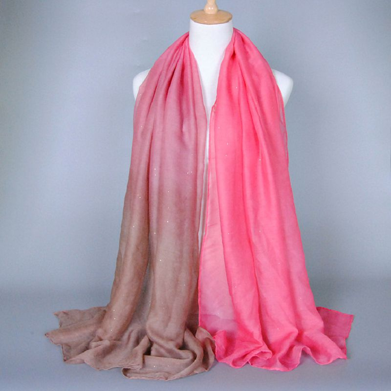 Fashion New Cotton Bali Yarn Women Scarf Wholesale Classic Bronzing Gradient Autumn And Winter Ladies Foulard Scarves