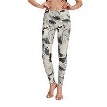 Купить с кэшбэком HaoShou Professional Push Up sport gym Running Seamless floral Dot Yoga pant stretchy fitness women leggings