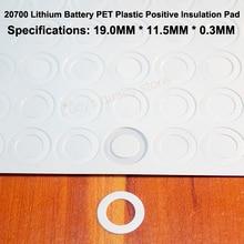 100pcs/lot 20700 Lithium Battery Accessories Pet Plastic Positive Hollow Head Gasket Original Diy Fittings