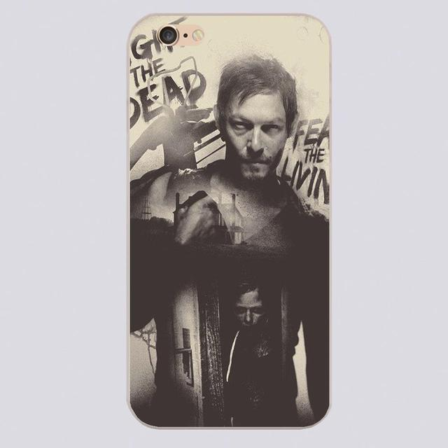 The Walking Dead Daryl Dixon Luxury Design Transparent Hard Shell Cases For iPhone 4 5 5c 5s 6 6s 6plus