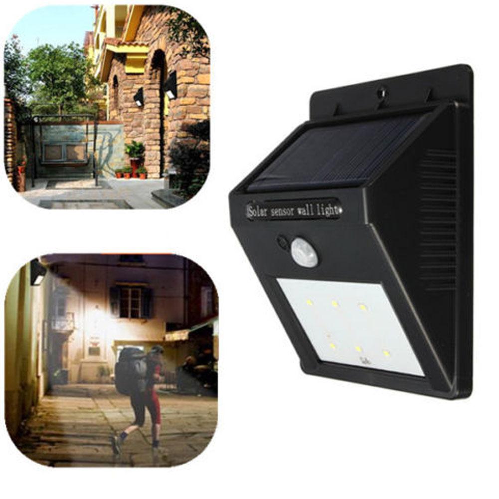 Outdoor Solar Sensor Lights Nz: Hot Item! 1Pc 6LED Solar Power PIR Motion Sensor Wall