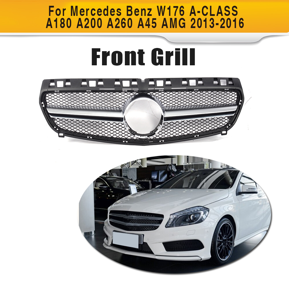 купить Car Styling ABS Auto Front Grill Grille For Mercedes Benz W176 A-CLASS A180 A200 A260 A45 AMG 2013-2016 по цене 6437.32 рублей