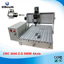 4 axis cnc machine 3040 500w woodworking machine