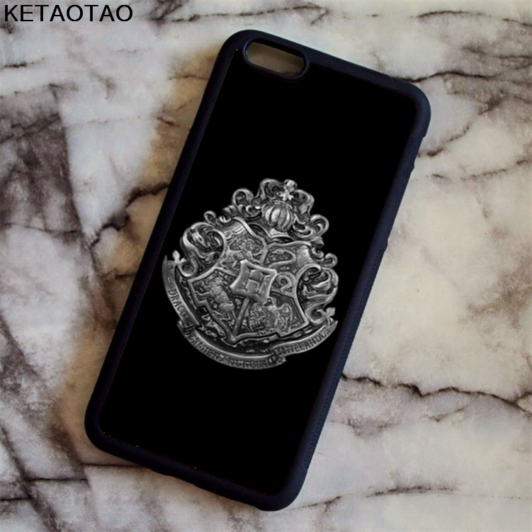 KETAOTAO Deathly Hallows Harry Potter Phone Cases for iPhone 4S 5S 6 6S 7 8 X PLUS for Samsung S8 Case Soft TPU Rubber Silicone