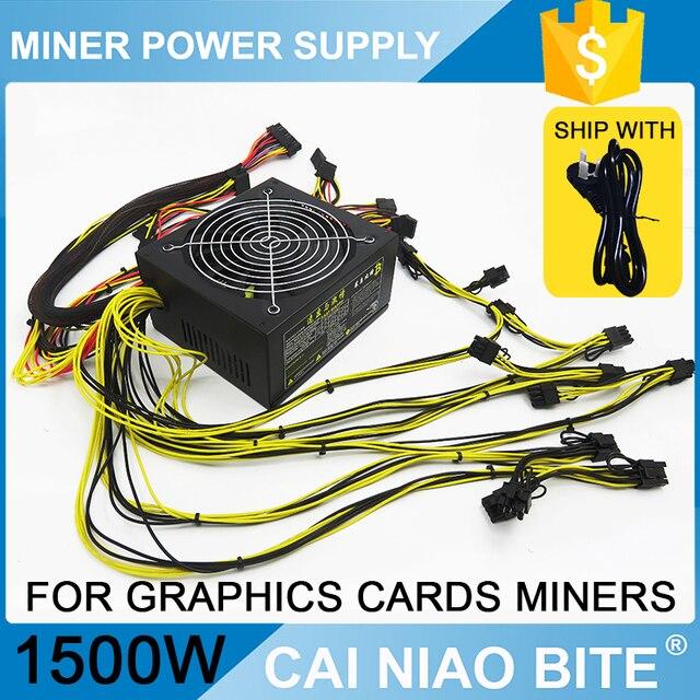 ATX psu 1500w gold power supply for eth rig ethereum coin miner mining 6GPU rx480 rx470 rx580 rx570
