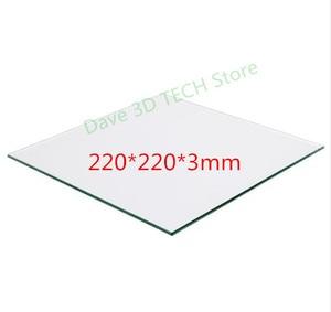 Image 1 - 220x220mm 3D 프린터 부품 유리 빌드 플레이트 표면 가열 베드 가열 베드 용 붕규산 플레이트 MK2 /MK3 Creality Ender 3/3S