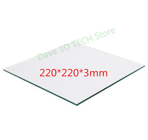 Image 1 - 220x220mm 3D printer part Glass Build Plate surface Heated Bed Borosilicate plate For Heated Bed MK2 /MK3 Creality Ender 3/3S