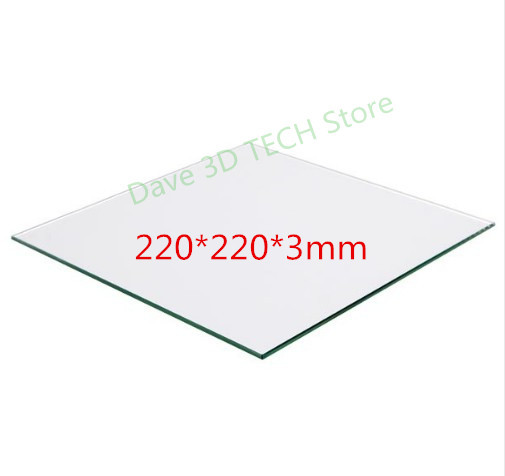 220x220mm 3D printer part Glass Build Plate surface <font><b>Heated</b></font> <font><b>Bed</b></font> Borosilicate plate For <font><b>Heated</b></font> <font><b>Bed</b></font> MK2 /MK3 Creality Ender-3/3S image