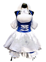 Free Shipping Chobits Chii Halloween Cosplay Costume Blue Maid Costume