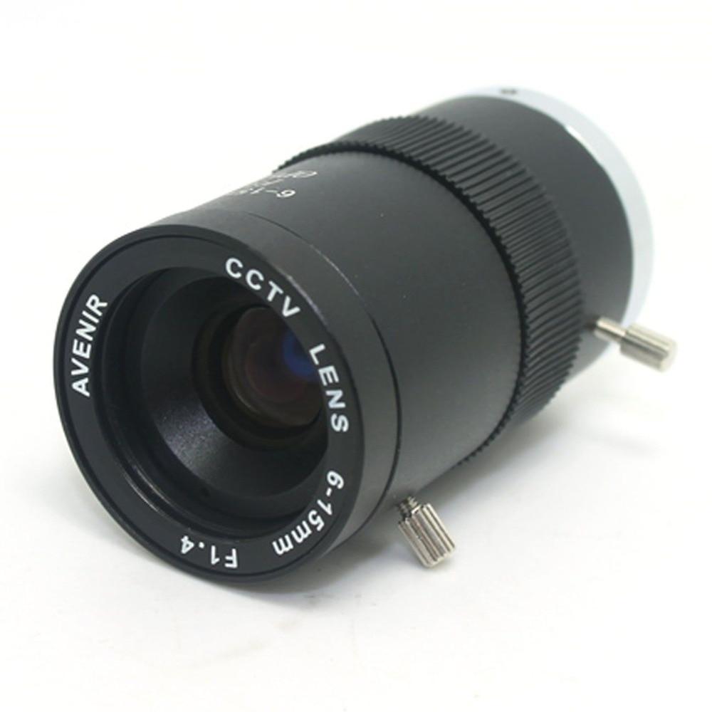 "6-15mm Manual Focal Iris Zoom Security CCTV Camera Lens 1/3 inch"" CS Mount"""