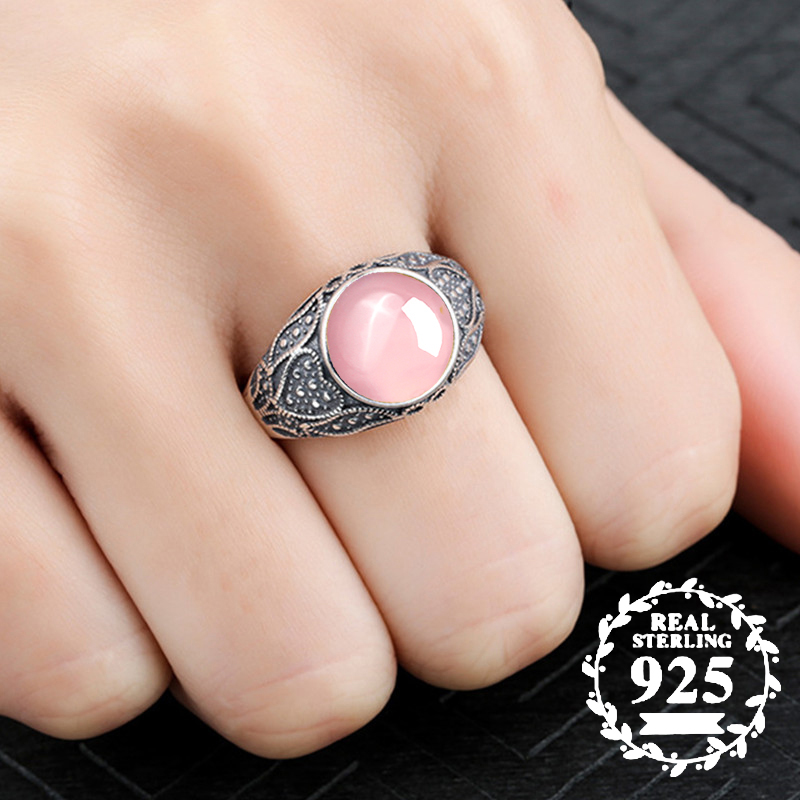 10*10mm NOT FAKE S925 Sterling Silver Australia Ruby Rings Exaggerated Rings upper class lithuania Chalcedony10*10mm NOT FAKE S925 Sterling Silver Australia Ruby Rings Exaggerated Rings upper class lithuania Chalcedony