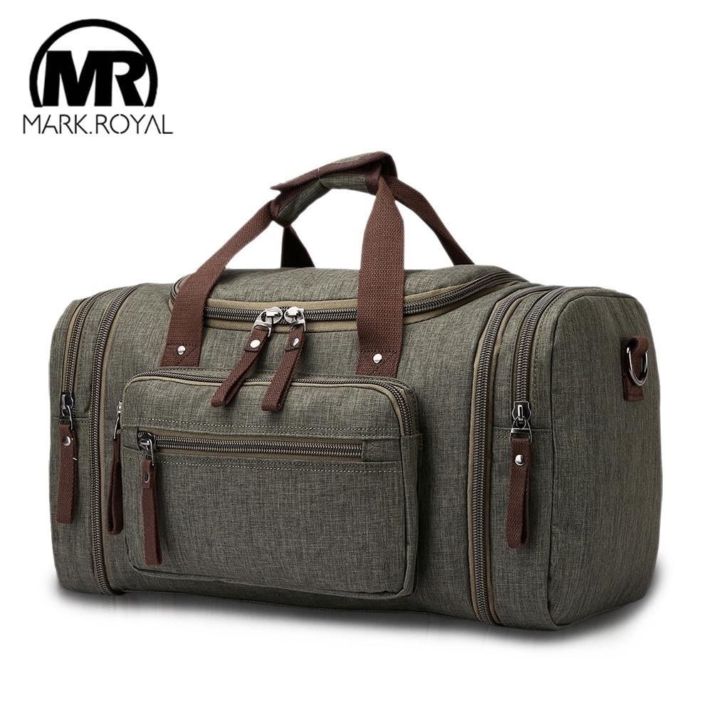 MARKROYAL Soft Waterproof Men Travel Bags Carry On Large Cap