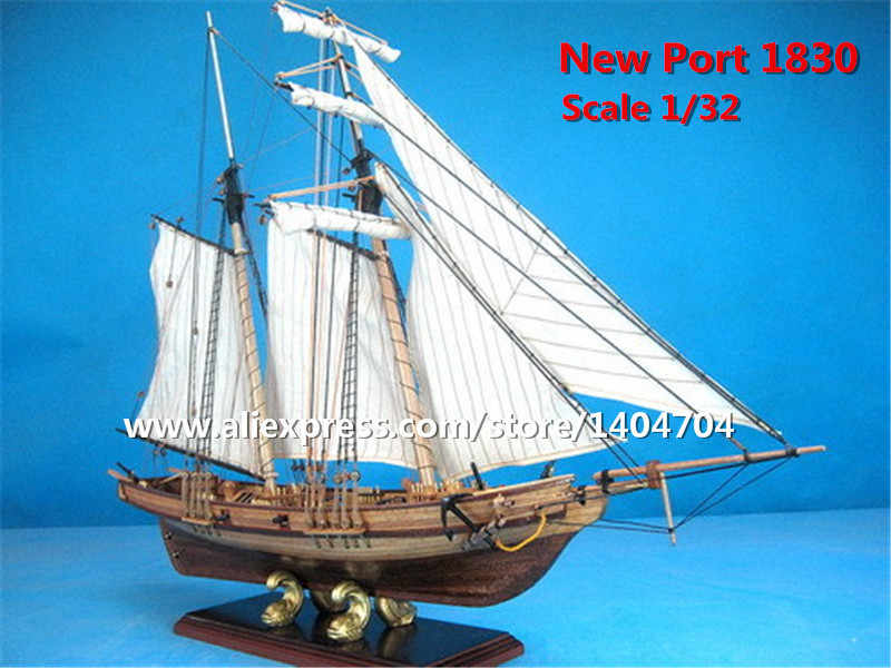 1830 US Classic Baltiomore Schooner wooden model scale 1/32 New Port sail boat wooden Model kits
