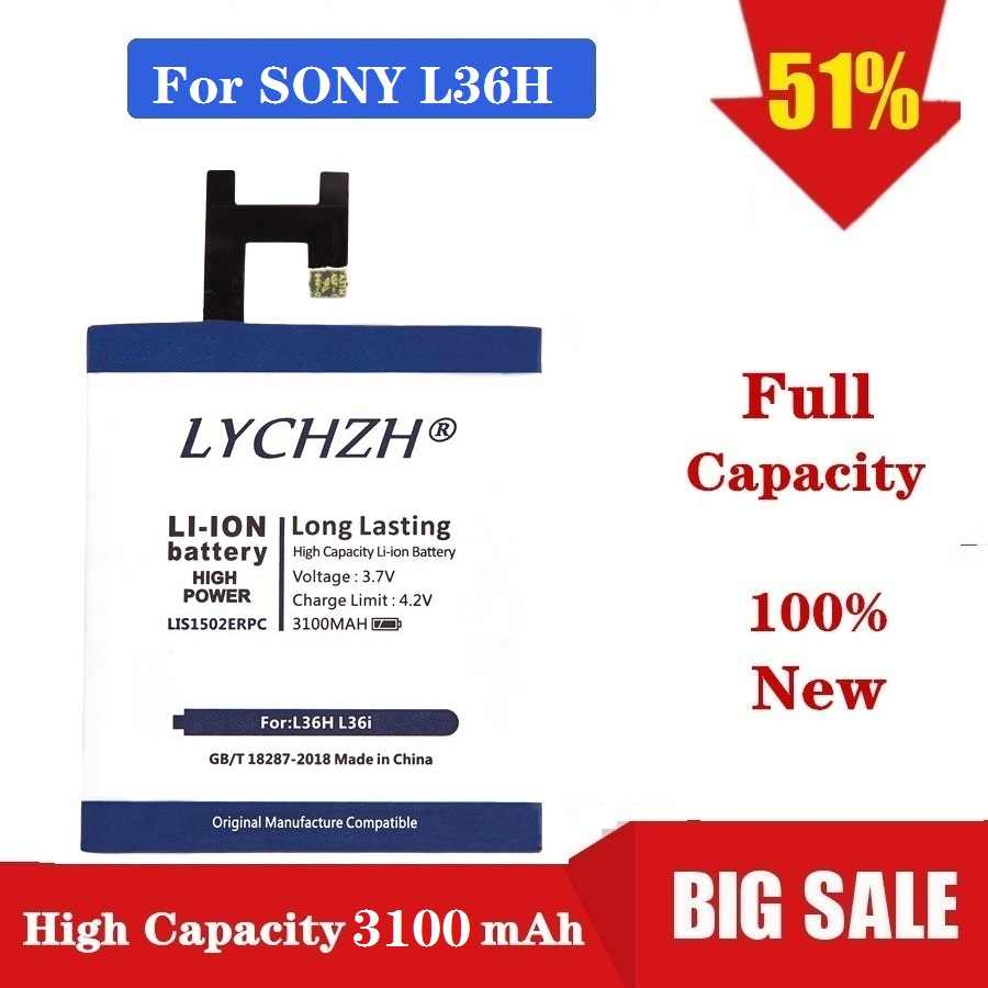 3100mAh LIS1502ERPC For SONY Xperia Z Lt36h L36H L36i C6600 C6602 S39H SO-02E C6603 C2305 M2 D2303 S50H C660X Battery