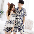 Korean Cotton Striped Christmas Pyjamas Men Explosions Outside Wearing Couples Short-sleeved Home Suit High Quality Pajamas
