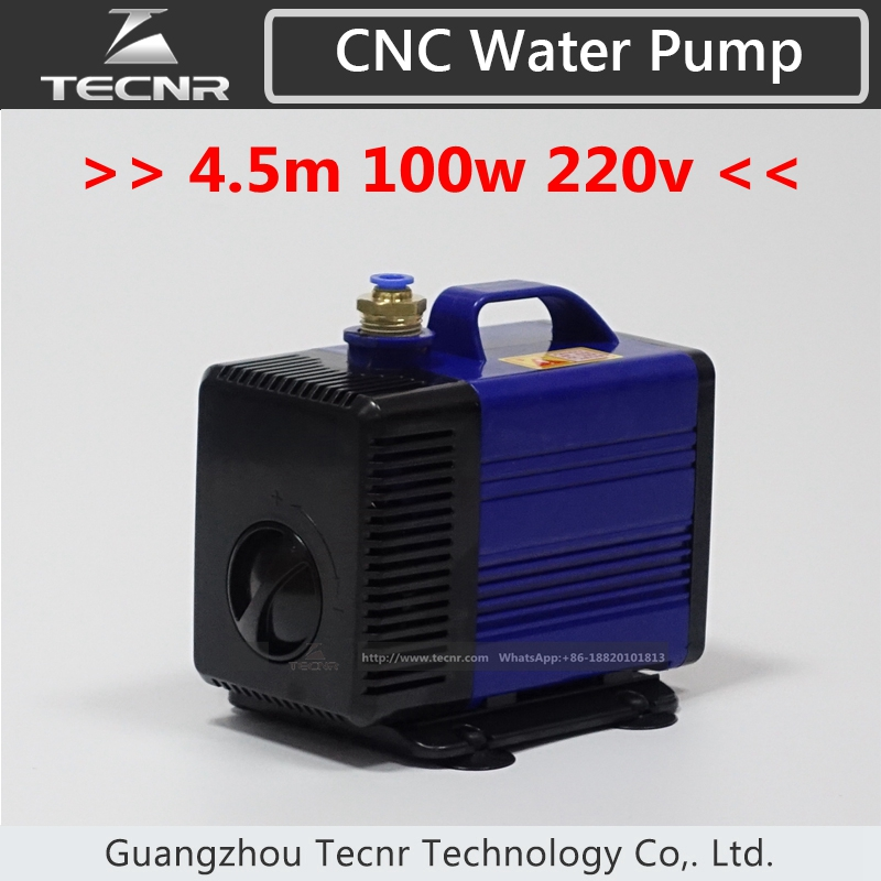 engraving machine tool cooling cnc spindle motor water pump 220v 100w 4.5m for router 3kw 4kw