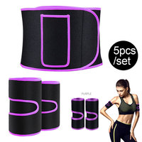 5pcs/Set Waist Trimmer Belt, Legs Arms Trainer Weight Loss Wrap Slimmer Kit, Stomach Fat Burner, Best Trainer Sweat Belly Band