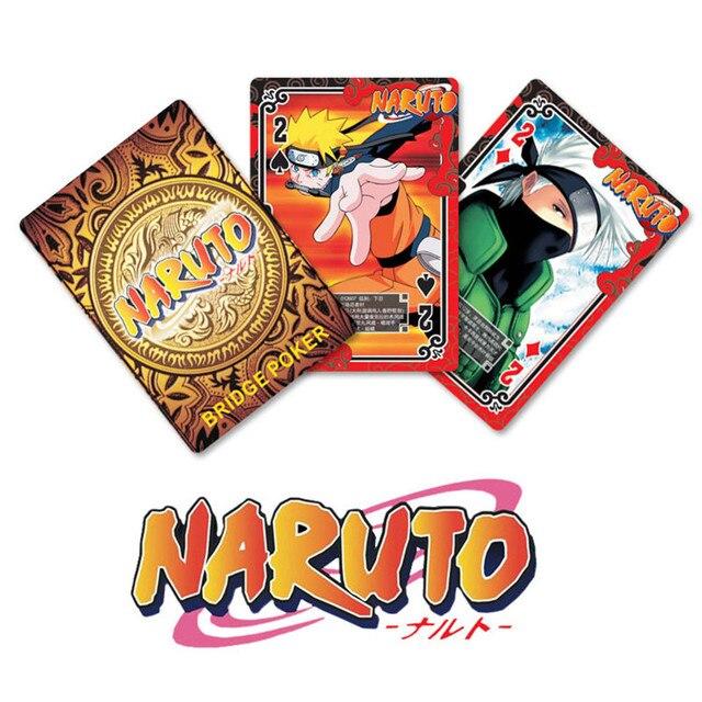 Nuevo Estilo Anime Cartas De Poker Creativo Naruto Naipes Juego De