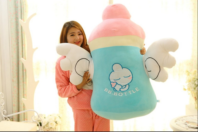 largest 100cm cute cartoon angel wings feeding bottle plush toy soft hugging pillow Christmas gift h703 super cute plush toy dog doll as a christmas gift for children s home decoration 20