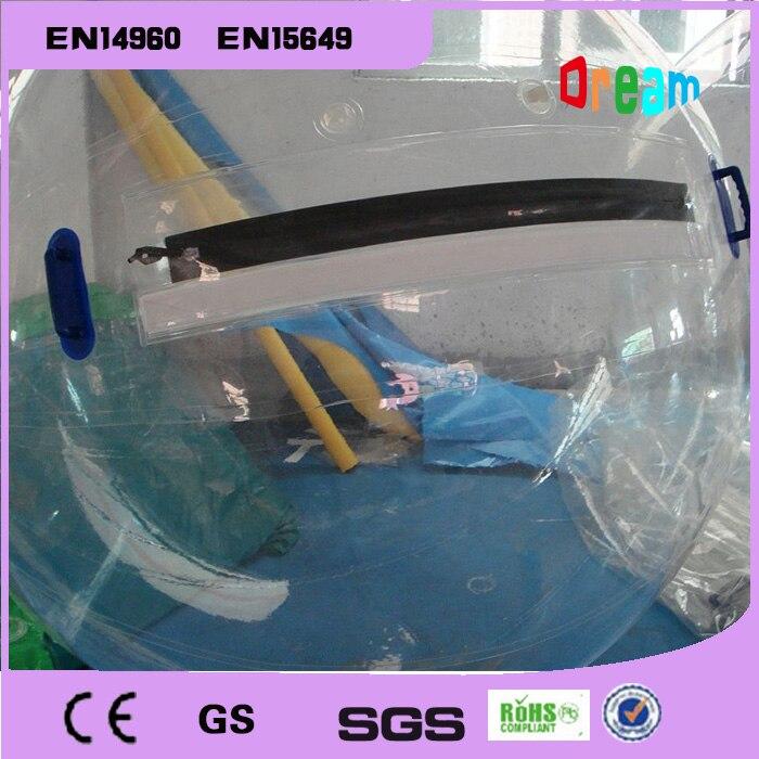DHL livraison gratuite pour 2 m transparent marche sur boule d'eau, boule de marche gonflable de l'eau, boule de Zorb pour piscine d'eau