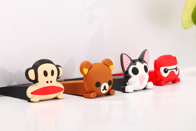 New Cute Baby Satefy Door Stoppers Cartoon Animal Children Kids Silicone Holder Lock Safety Finger Protection Corner Guards 1PCS