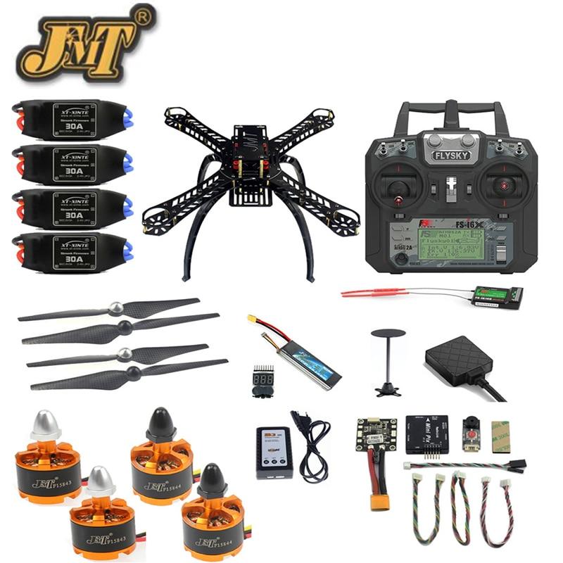цена на JMT 360 Full Set FPV Racing Drone 2.4G 10CH RC 4-Axis Radiolink DIY Mini PIX M8N GPS PIXHAWK Altitude Hold Mode Quadcopter