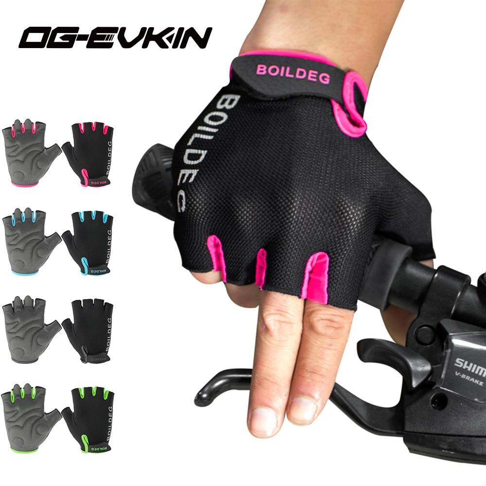 OG-EVKIN half finger cycling gloves 2018 half finger summer men women bike glove bicycle gloves for road bike mountain bicycle robesbon half finger cycling bicycle gloves