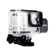 Accessores Para GoPro 4 3 + 3 Caso de Carga À Prova D' Água Debaixo D' Água para Gopro Hero 4 Hero 3 + 3 Carregador De Moto shell Habitação caixa
