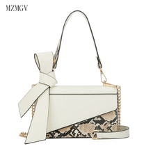 2019 fashion snakeskin PU leather shoulder bag female chain Messenger ladies brand small