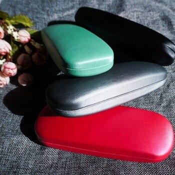 Caja de gafas de lustre sedoso para hombre y mujer 3 en 1 Conjunto de paño limpio tornillo para gafas de acetato multicolor caja de estuche rígido