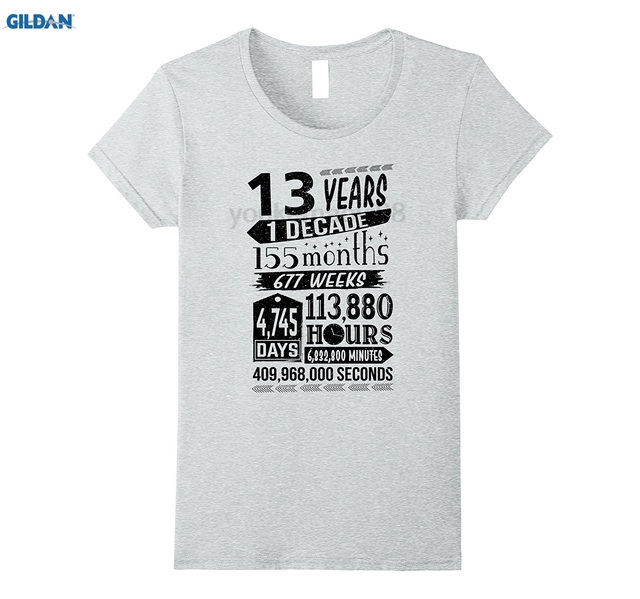 GILDAN Funny 13th Birthday T Shirt 13 Year Old Teen Sign Gag Gift In