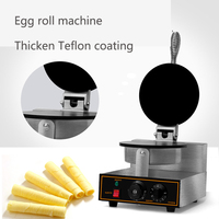 Free shipping Commercial egg roll making machine waffle egg roll machine