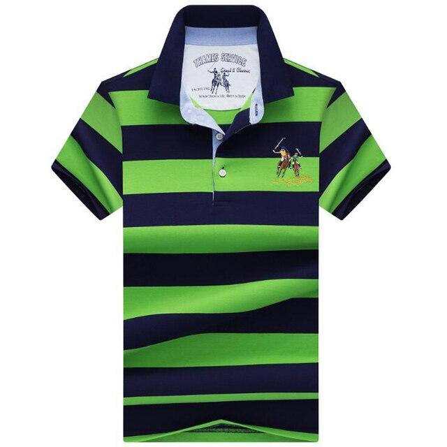 Áo Thun Polo nam sơ mi 2019 Nam Mùa Hè Áo Phong Cách Doanh Nhân Cao cấp Thương Hiệu Dây Cotton Cổ Polo Nam Chắc Chắn áo
