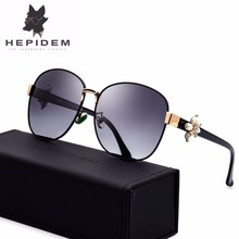 HEPIDEM New Acetate Metal Sunglasses Women Famous Brand Designer Sexy Female Ladies Oversized Polarized Sun Glasses Diamond 9202
