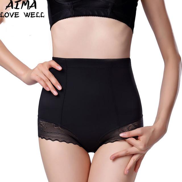 De las mujeres atractivas sliming body shaper posparto pantalones de encaje corsé shapewear inconsútil briefs underwear cincher de cintura alta briefs