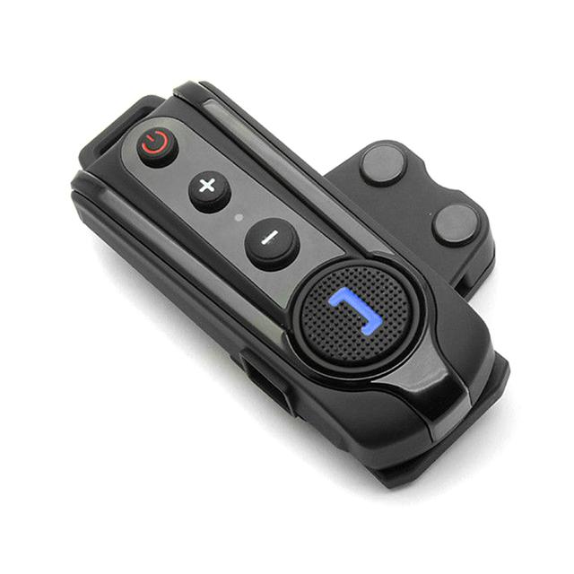 1000 M Casco de La Motocicleta Bluetooth Intercomunicador BT A2DP Y AVRCP Bluetooth Inalámbrico Auriculares Casco Intercomunicador Impermeable Auricular