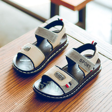 2019 summer childrens leather beach shoes Korean version of the big sandals casual boys