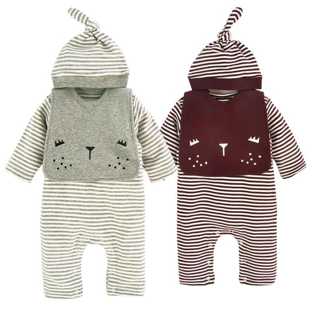 7e8a59cff32d 3Pcs Set New Spring Newborn Baby Girls Boys Infant Warm Striped ...