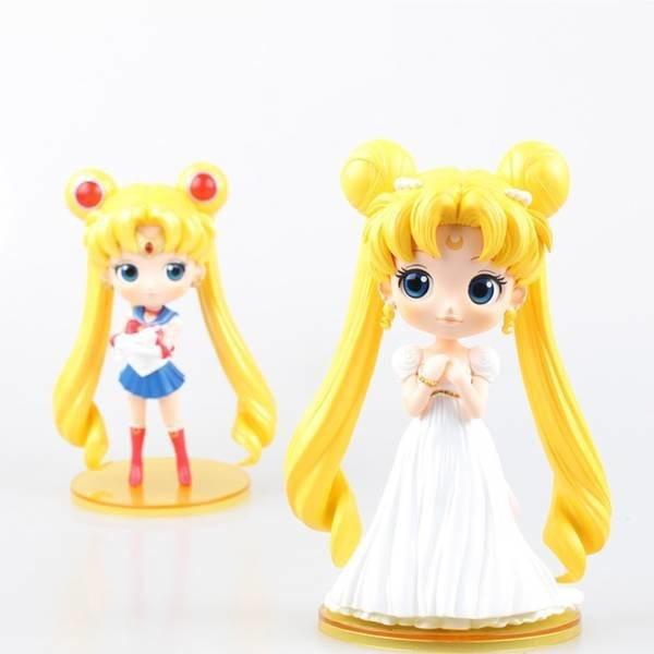 Anime Sailor Moon Wedding Tsukino Usagi Q Ver. PVC Action Figure Collectible Model Toy 15cm KT1705 комплектующие для упаковки pvc abs plastic anime sailor moon action figure