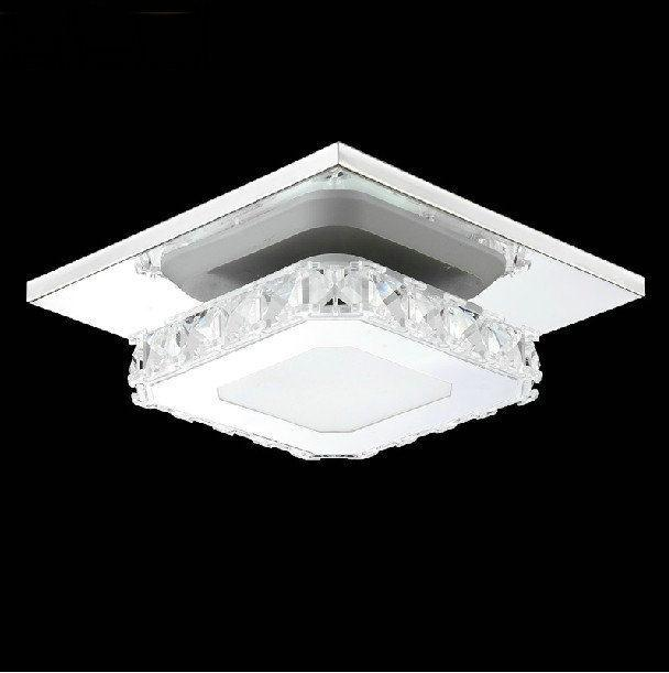 ФОТО Square  Length 50cm  crystal flush mount ceiling light fixture bulbs included  free shipping