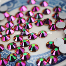 New Rainbow Rose Gold Non Hotfix Crystal Rhinestones For Nails Art Decoration Flatback Glue On Strass Stones DIY Crafts Garments