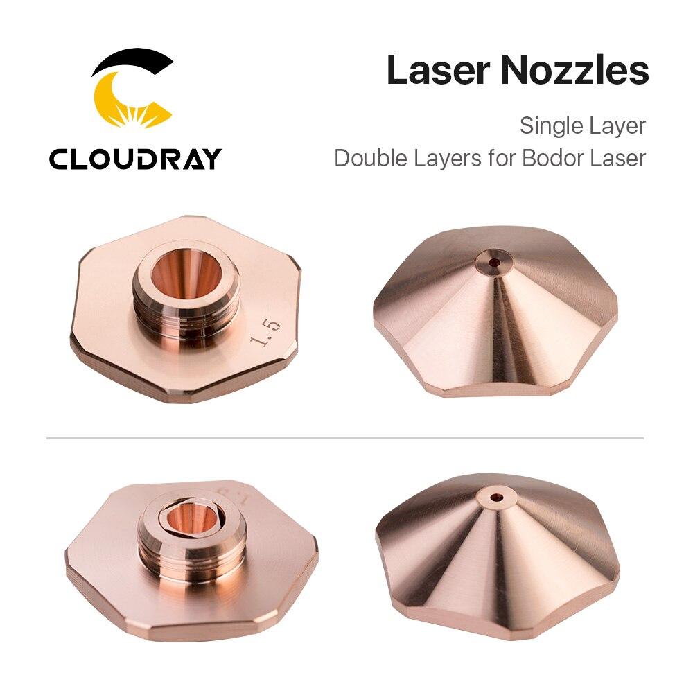 Cloudray Bodor Laser Nozzles Single Layer/Double Layers Dia.32mm Caliber 0.8 - 4.0mm For Bodor Empower Fiber Laser Cutting Head