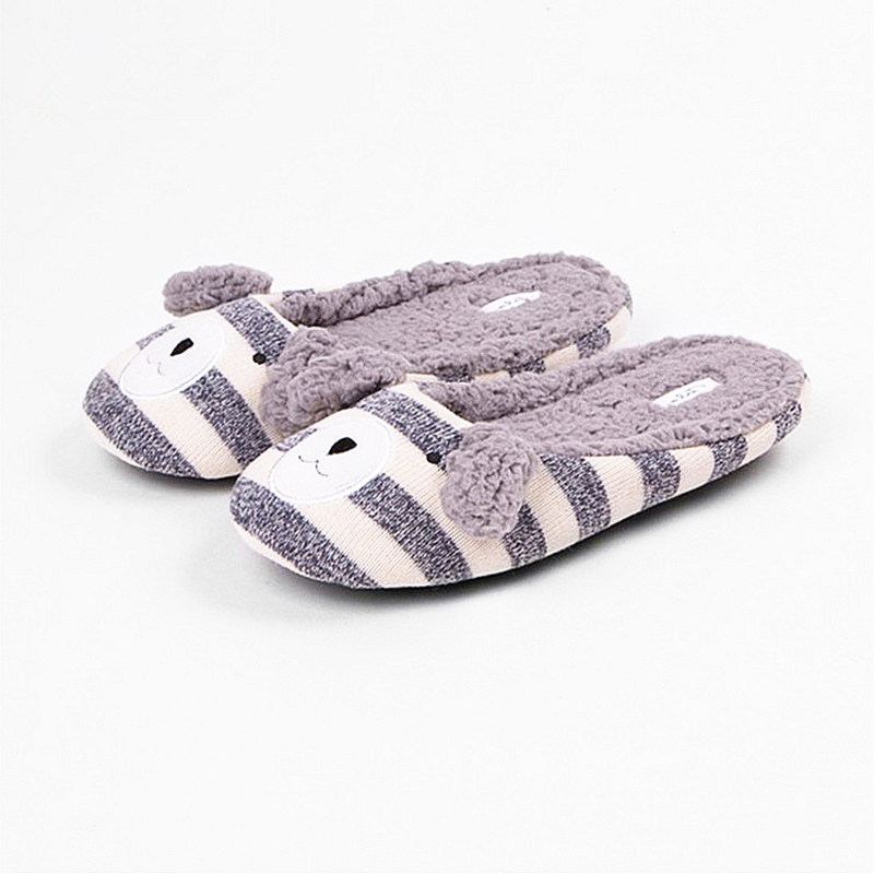 2017 Latest style Spring/Autumn Women's Home Slippers Ladies Animal Cotton Indoor Floor Plush Soft Slipper Women Bears Slippers winter soft floor slippers ladies plush indoor cotton slippers oratee