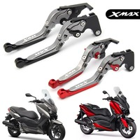 For Yamaha X MAX 250 400 2017 2018 X MAX Motorcycle CNC Aluminum Adjustable Foldable Extendable Scooter brake Clutch lever X MAX