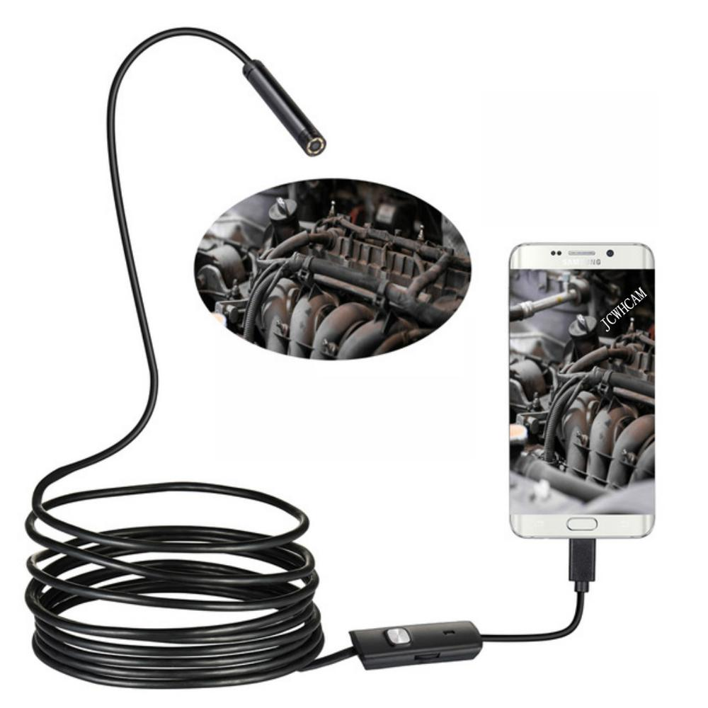8/7/5,5mm Objektiv 1M 2M 3,5 M 5M Draht 720P USB Android endoskop Kamera Inspektion Endoskop Led Licht Wasserdicht Android Endoskop