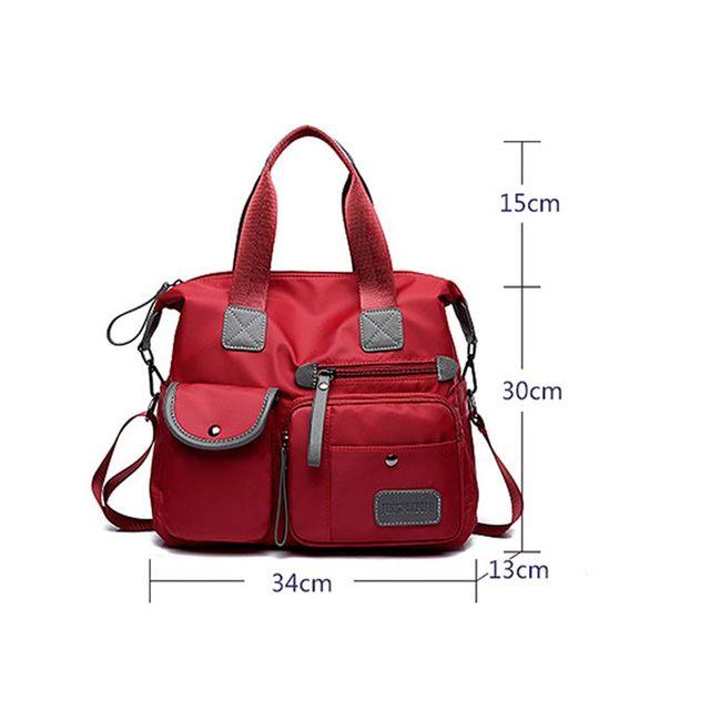 DCOS New Ladies Fashion Waterproof Oxford Tote Bag Casual Nylon Shoulder Bag Mummy Bag Large Capacity Canvas Bag 5