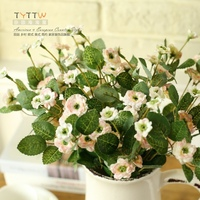 2015 NEW10pcs/ lot Elegant Multiflora, silk flower simulation flowers garden living room bedroom dresser table decoration flower