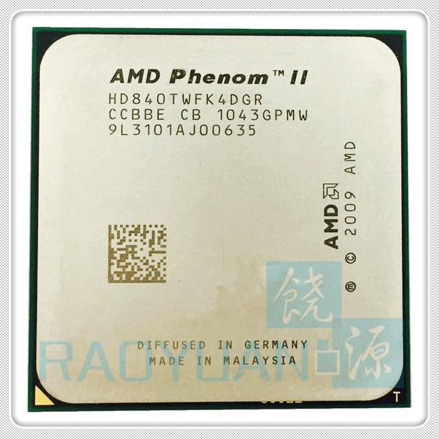 AMD Phenom II X4 840T 2.9Ghz Quad-Core DeskTop CPU X4-840T HD840TWFK4DGR Socket AM3
