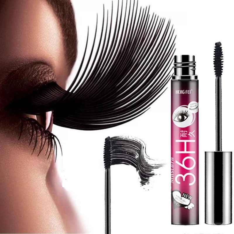 5a6b34016e5 4D Smudge-proof Mascara Waterproof Eyelash Fiber Black Ink Rimel Curling  Eye Lash lengthening Makeup