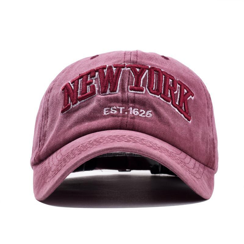 HTB1xnxEvf9TBuNjy1zbq6xpepXa1 - oZyc Sand washed 100% cotton baseball cap hat for women men vintage dad hat NEW YORK embroidery letter outdoor sports caps